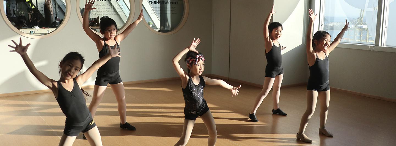 children dancing in studio